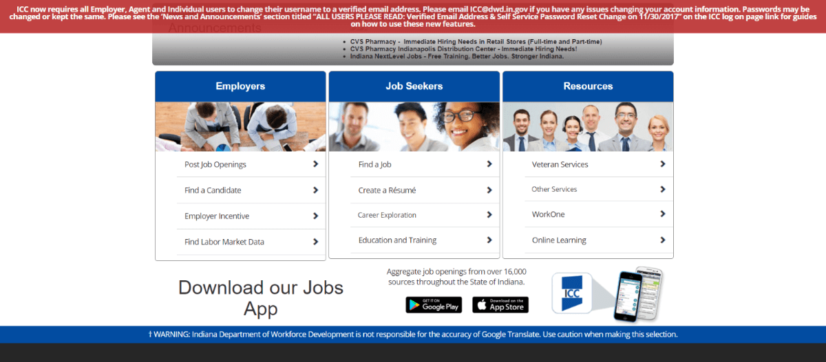 Indianacareerconnect-services