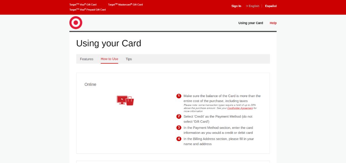 mybalancenow-using cards