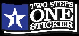 twostepsonesticker